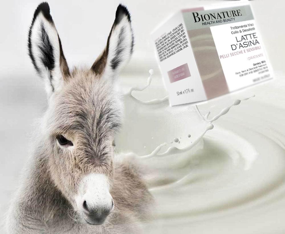 Crema Bionature al latte d'asina per la pelle del viso e del decolletè