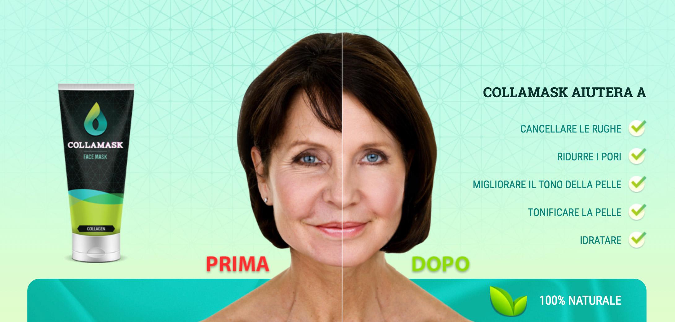 CollaMask maschera contro i problemi principali della pelle