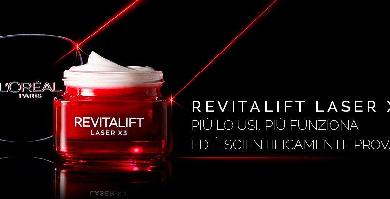L'Oréal Paris Revitalift Laser X3 Crema Viso Antirughe Anti-Età Giorno con Acido Ialuronico e Pro-Xylane